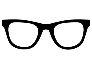 Vektor Nerdbrille von vorne