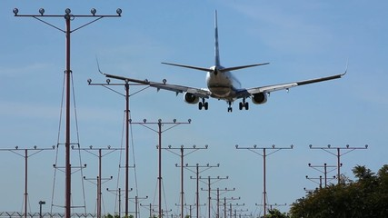 Airplane approaching for Touchdown
