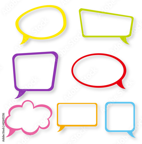 text frame - speech bubble
