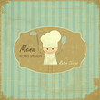 Vintage Menu Card Design with chef