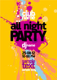 Fototapety All Night Party design template