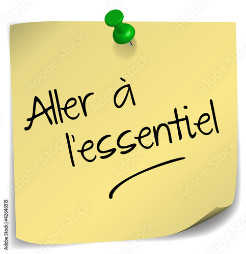 post-it ;  aller à l'essentiel