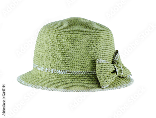 a straw hat isolated on a white background