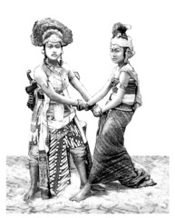 Young Women : Traditional Asian Dancer