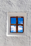 Balearic islands blue sky view through window - 42648940