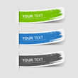 Colorful label brush stroke, vector