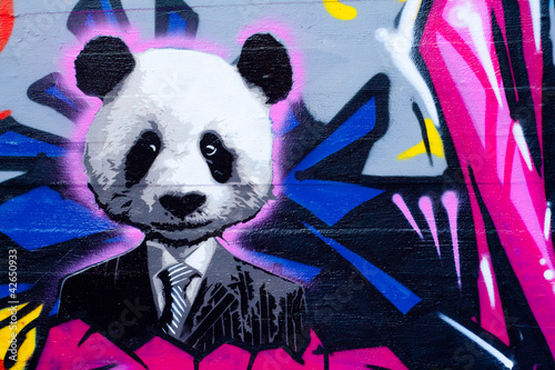 Fototapeta Suited panda