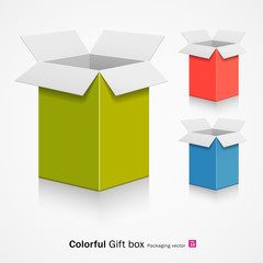 Colorful gift box. vector illustration