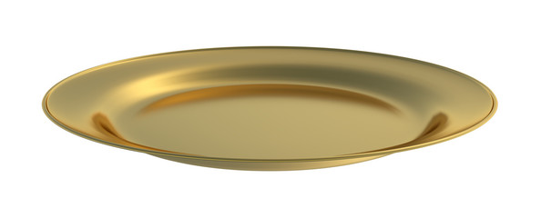 Golden dinner plate cutout