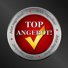 top angebot button, icon