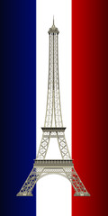 eiffel tower rendered  from 3d model