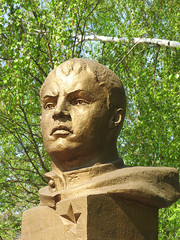 Bust of a warrior-hero Alexander Matrosov