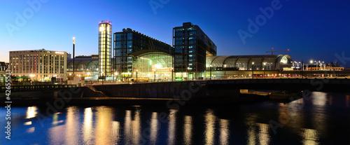 Leinwanddruck Bild panorama berlin hauptbahnhof