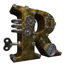 Steampunk lettre r