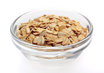 Wheat flakes in bowl