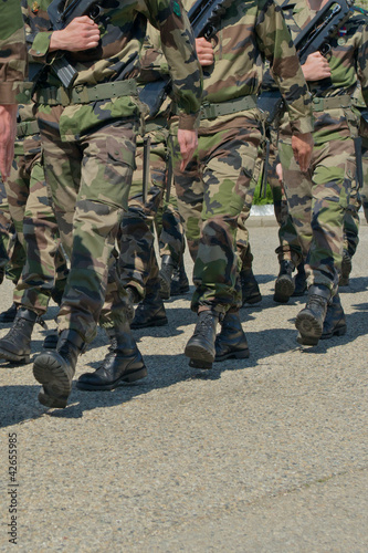 armed marching soldiers