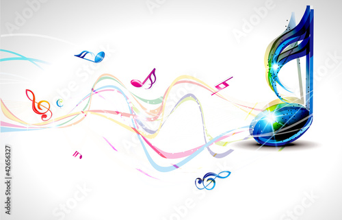 abstract muscial wave background