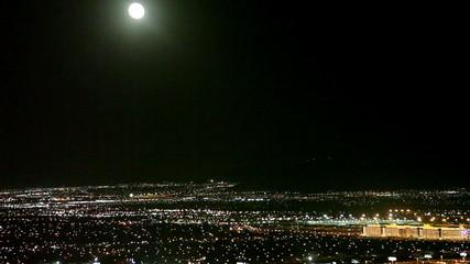 Aerial view of  Las Vegas, airport side