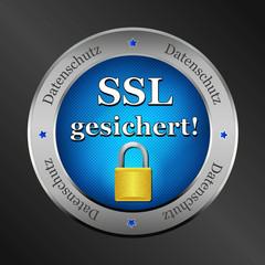 ssl datenschutz metallic button