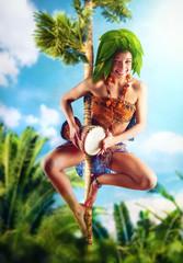Aborigine with drum