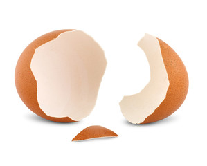 crash egg isolated on white