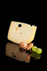 Luxurios swiss cheese background.