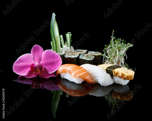 Fototapeten,sushi,japanese food,essen nahrhaft,roh