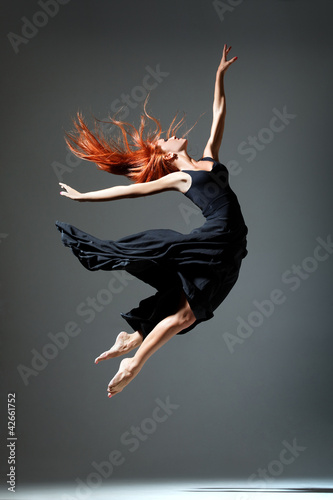 Foto op Canvas Dance School the dancer