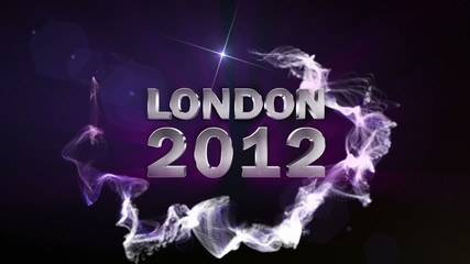 LONDON 2012 Text in Particle (Double Version) Blue - HD1080
