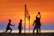 silhouette beach volleyball