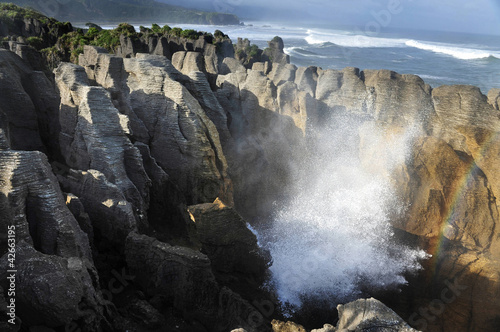 New Zealand South Island Pancake Rocks