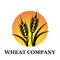 Logo wheat company # Vector