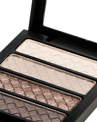 close-up of eyeshadow compact.