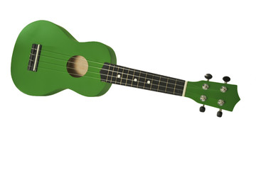 ukelele, isolated on white background