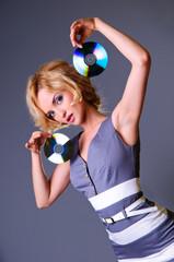 girl keeps disks