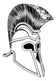 Monochrome Corinthian helmet poster