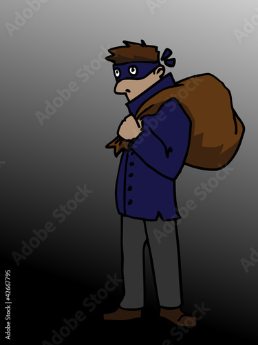 Cartoon Thief Vector
