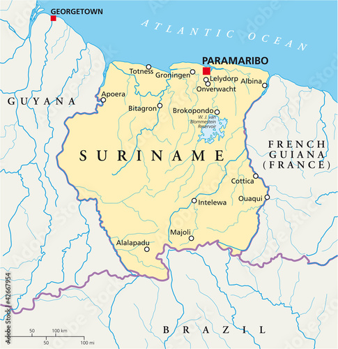 Suriname Map (Suriname Landkarte)