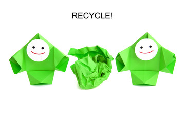 Conceptual image of recycling, ecology, and nature protection