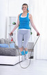 Fitness girl jump rope