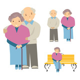 vector illustration of the elderly