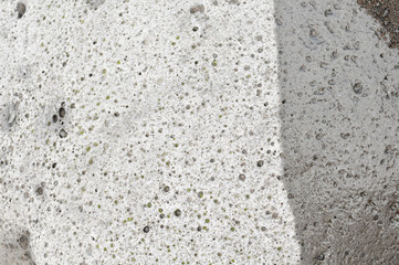Abstract stone background with wet and dry space