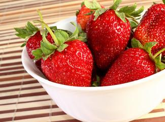 strawberries on dish