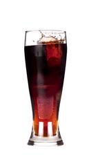 isolated Fresh coke with splash