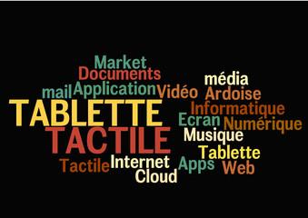 Nuage de Mots : Tablette Tactile