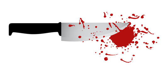 Knife and blood