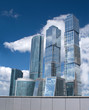Moscow City Business centre buildings in Moscow