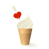 Icecream with heart