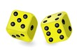 die dice backgammon yellow