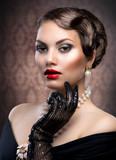 Fototapete Portrait - Hairstyle - Frau